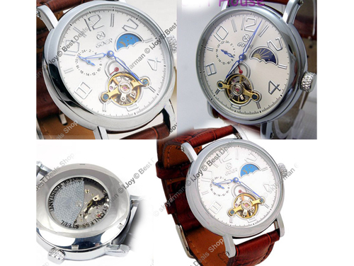 Смотрите на фото: Часы Goer женские. часы скелетоны Goer мужские женские